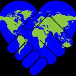 world heart handshake